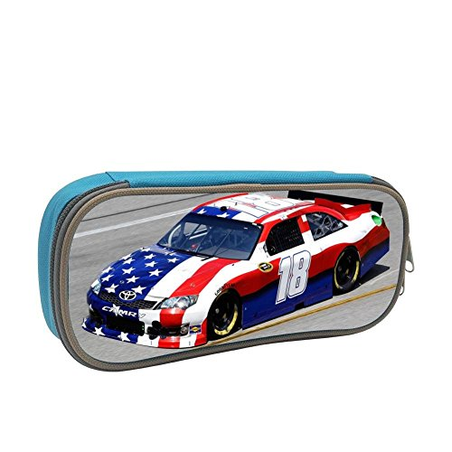 Grrry American Flag No.18 Race Car 3D Printing Zipper/Pencil/Pen Bag Case Stationery ()