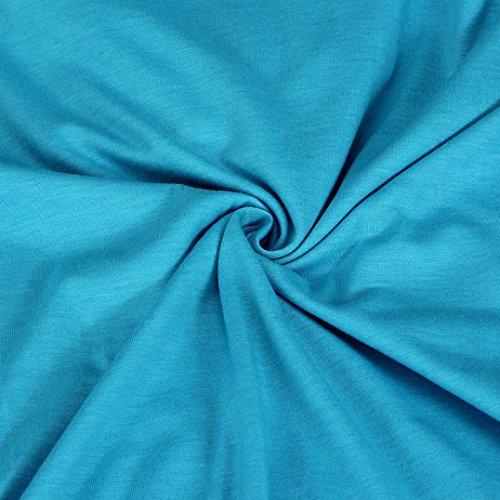 Vovotrade mujer camiseta vestido con capucha Jersey Azul