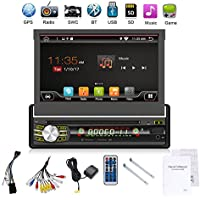 2G 32G Single Din Android 6.0 Quad-Core 7 Touchscreen, Bluetooth, DVD/CD/MP3/USB/SD AM/FM Car Stereo, 7 Inch Digital LCD Monitor, Detachable Front Panel, Wireless Remote,Multi-Color Illumination