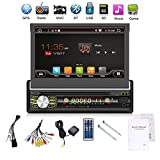 2G 32G Single Din Android 6.0 Quad-Core 7'' Touchscreen, Bluetooth, DVD/CD/MP3/USB/SD AM/FM Car Stereo, 7 Inch Digital LCD Monitor, Detachable Front Panel, Wireless Remote,Multi-Color Illumination