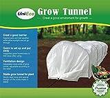 UniEco Grow Tunnel Garden Tunnel Minni Greenhouse Fleece Tunnel 118'' L x 24'' W x 18'' H
