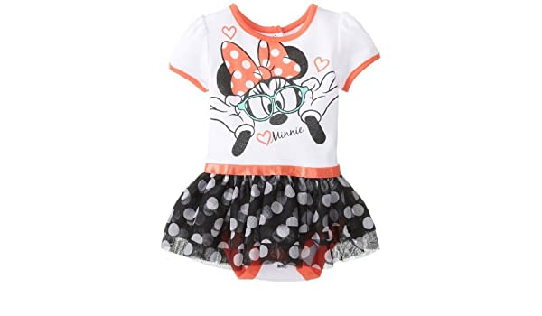 Disney Baby Baby-Girls recién nacido Nerdy Minnie Mouse falda ...