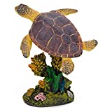 Penn Plax Swimming Sea Turtle Aquarium Figure - Medium - 3L x 4.5H in.