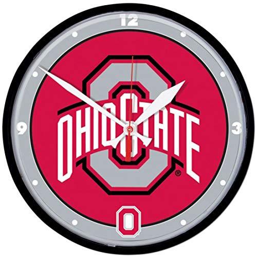 The Ohio State University Buckeyes Wall Clock, 12 inches Round