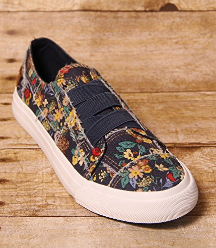 Blowfish Women's Marley Navy Japanese Floral Canvas 7.5 M US