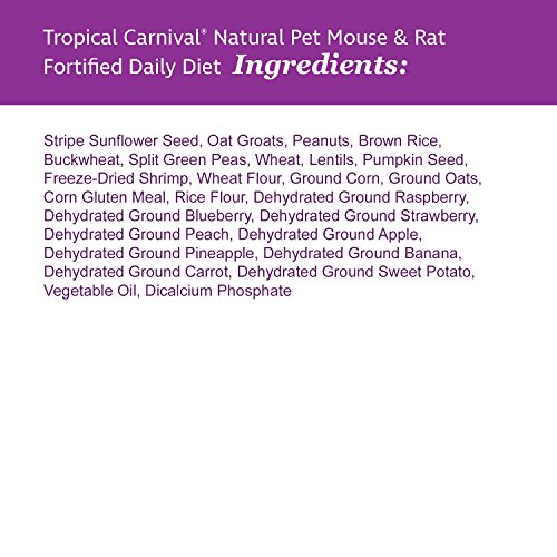 Tropical Carnival F.M. Brown's Natural Pet Mouse and Rat Food, 2-lb Bag - Vitamin-Nutrient Fortified Daily Diet, Soy-Free High Protein Blend with Shrimp, NO Artificial Colors or Flavors by Tropical Carnival (Image #2)