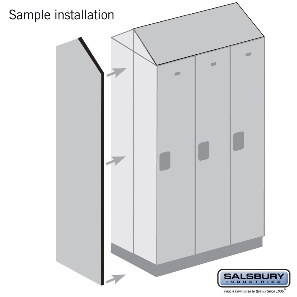 Salsbury Industries 22246MAH Double End Side Panel for 21-Inch Deep Extra Wide Designer Wood Locker with Sloping Hood, Mahogany Brown