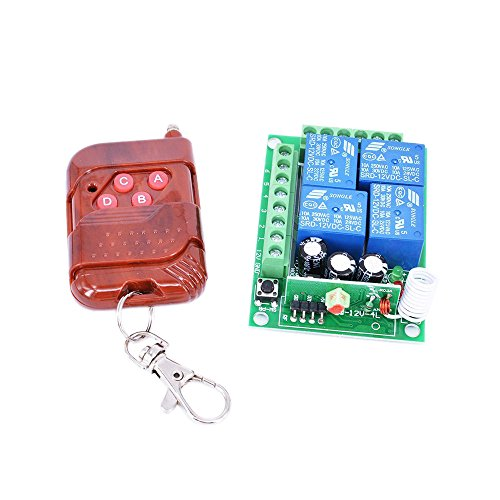 - Hot ! Thunbird New 12v 4 Channel Wireless Remote Control Receiver Momentary Switch