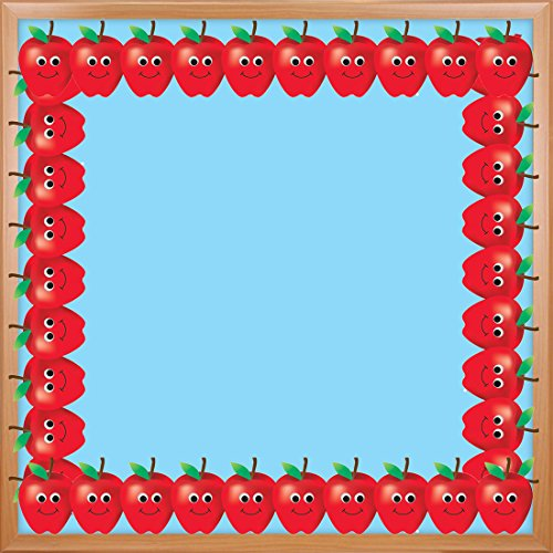 Hygloss Products Happy Apples Die-Cut Bulletin Board Border – Classroom Decoration – 3 x 36 Inch, 12 Pack ()