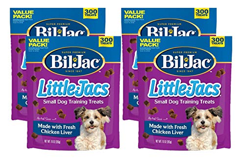 Bil-jac Little Jacs Small Dog Treat – Chicken Liver – 10 Oz Pack of 4
