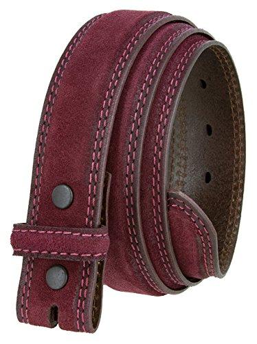 (Fullerton 351000 Genuine Full Grain Suede Leather Belt Straps 1-3/8