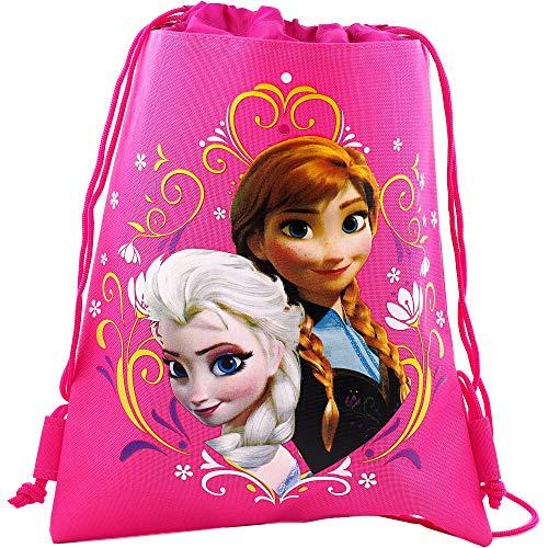 Frozen Pink Drawstring Bag