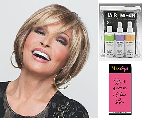 Bundle 3 items: Muse Wig Lace Front Monofilament Layered Bob by Raquel Welch Wigs R1621S, HairUWear Travel Kit, MaxWigs Hairloss Booklet by Unknown