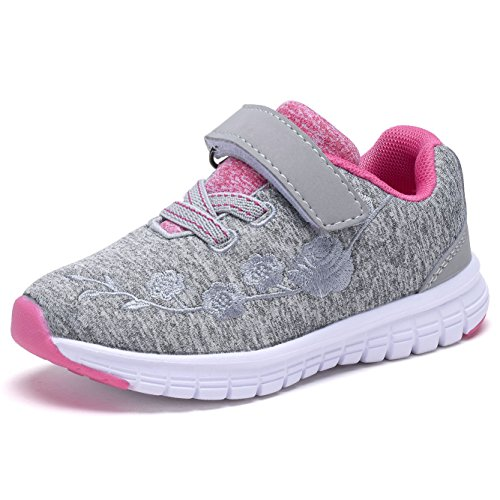 G GEERS OS002 Toddler Running Sneakers Little Girl's colorful Mesh Shoes Grey-6 (Shoes Kids Toddlers Sneakers)