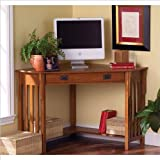 Cheap Holly and Martin Alexander Corner Computer Desk in Mission Oak