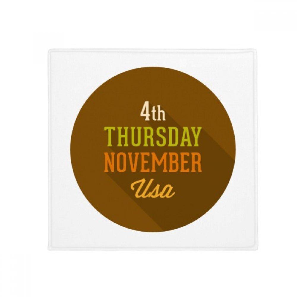 DIYthinker Garland Thanksgiving Day Circle Pattern Anti-Slip Floor Pet Mat Square Home Kitchen Door 80Cm Gift