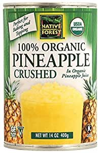 Native Forest Organic Pineapple Crushed, 14-Ounce Cans (Pack of 6)