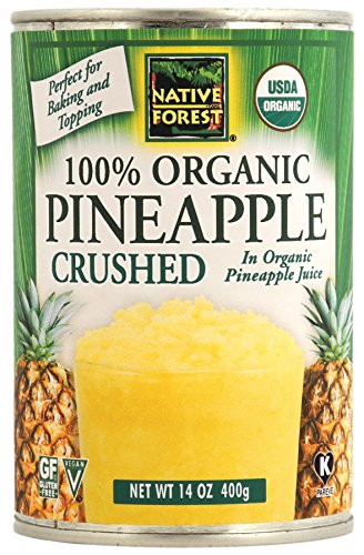 Native Forest Organic Pineapple Crushed, 14 Ounce Cans (Pack of 6) ()