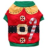 Kirei Sui Christmas Dogs Cats Pets Clothes Elf Costume Small Red