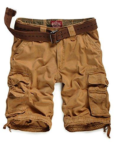 Match Men's Twill Comfort Cargo Short Without Belt #S3612 (Label size XL/34 (US 32), Mud)