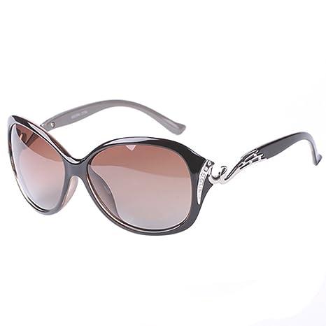Nikgic gafas de sol polarizadas para mujer UV400 – Mode Retro gran Oval gafas de protección