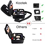 Kootek 2-Layers Travel Makeup Bag, Portable Train