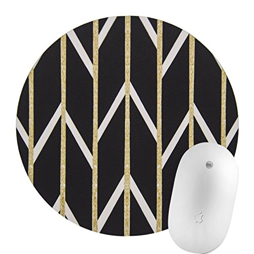 Simple Fashionable,Natural Rubber Round Mouse Pad,Ideal Size for Gaming