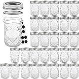 Mason Jars 8 OZ, VERONES Canning Jars Jelly Jars With Regular Lids and Bands, Ideal for Jam, Honey, Wedding Favors, Shower Favors, Baby Foods, 30 PACK