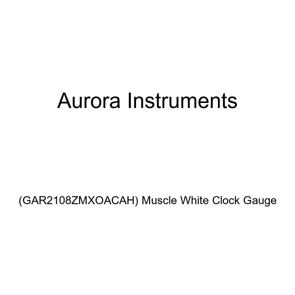 GAR2108ZMXOACAH Muscle White Clock Gauge Aurora Instruments