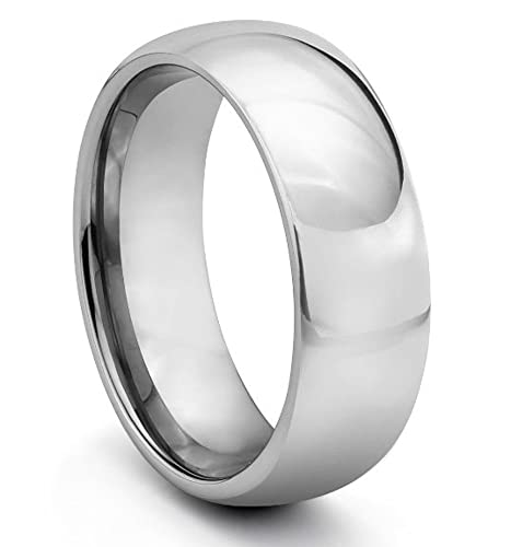 Tungsten Carbide Wedding Band Ring 4mm Domed Classic Ring