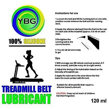 ybg las importaciones - 100% silicona cinta de correr lubricante ...