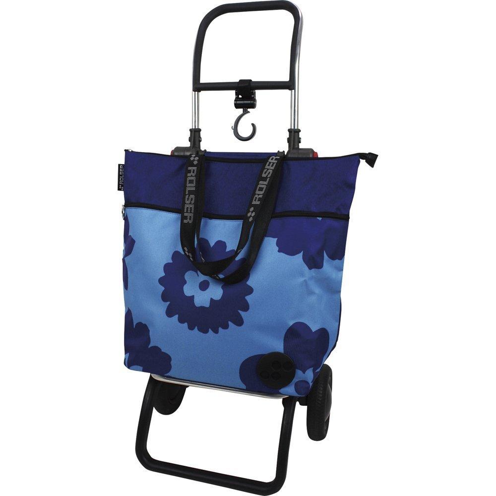 Rolser ショッピングカート イーナ (フラワーBL) フレーム+バッグセット B01LP86EYQ フラワーBL フラワーBL
