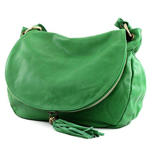 Made Italy - Bolso cruzados para mujer Verde