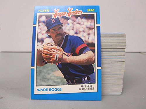 WADE BOGGS 1990 FLEER LEAGUE LEADERS #4 134 CARD LOT BOSTON RED SOX