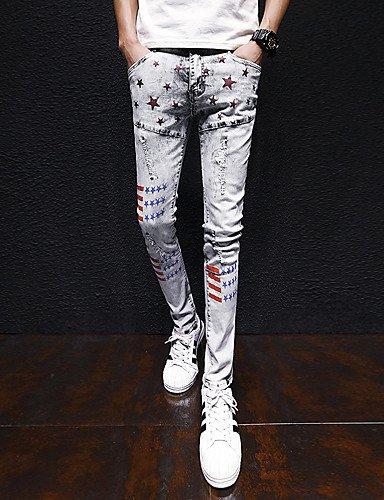 YYNANKU TT&Men's Pants Männer sind sind sind normal in der Mitte 75% Jeans Hosen, Vintage Feste Baumwolle Leinen Bambusfaser Acryl Frühling B07BMTWRRD Shorts Die erste Reihe von umfassenden Spezifikationen für Kunden e55b95
