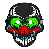 Clearance Sale!UMFun Halloween Scary Cosplay Masks Fancy Cosplay Costume Led Glowing Masks