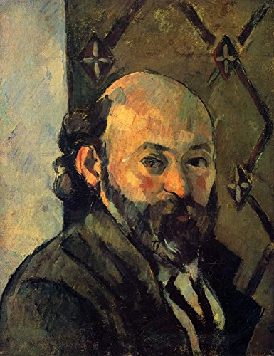 The Museum Outlet - Self-portrait in front of wallpaper by Cezanne - Canvas Print Online Buy (40 X 50 Inch)