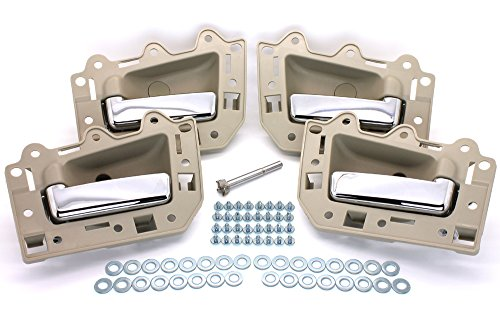 LatchWell PRO-4001700 Interior Door Handle Set With Install Kit in Light Beige & Chrome for Jeep Grand (Door Handle Light)