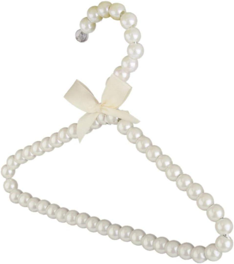 TOSSPER Wei/ß-Perlen-Bogen-Kleiderb/ügel Haken f/ür Kinder Kinder Bowknot Wei/ß