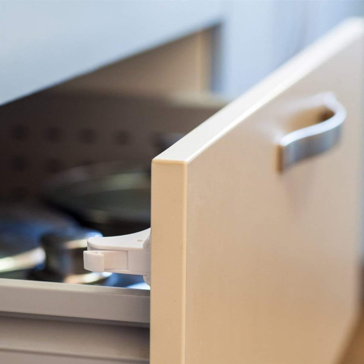 Bloqueo de Seguridad para Beb/és Dokon Cerraduras Magn/éticas de Seguridad para Ni/ños Cierres de seguridad Para Cajones Armarios 10 cerraduras + 2 llaves Sin Tornillos o Perforaci/ón
