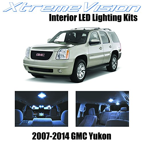 on 2007-2014 (12 Pieces) Cool White Premium Interior LED Kit Package + Installation Tool ()