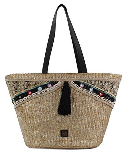 Bluebags Gina Capazo, Bolsa de Tela y de Playa para Mujer, 21 x 47 x 29 cm Dorado (Oro)