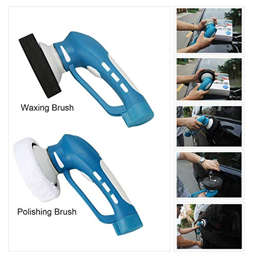 DSstyles Vehicle Car Polishing Mini Wireless Electric Vehicle Car Polisher Machine Clean Waterproof Tool by DSstyles (Image #6)