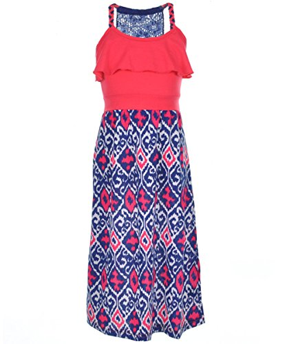 """One Step Up Little Girls' """"Waterfall Zigzag"""" Dress - pink peace, 4"""