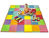 Matney® Foam Mat Puzzle Piece Play Mat Set - Safe for Kids to Play and Learn - Great for Nurseries, Play Rooms, Gyms, Day Care, Classrooms, Playgrounds Etc. - 36 Tile Pieces And Borders