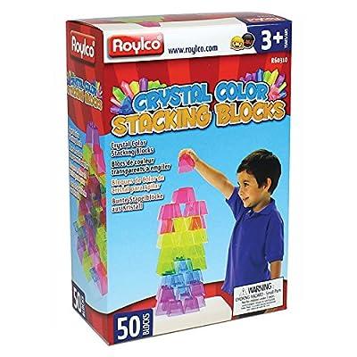 Roylco Crystal Color Stacking Blocks, Set of 50: Industrial & Scientific