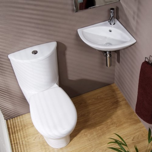 Bathroom Cloakroom Suite Toilet Basin Sink Set White Better Bathrooms Outlet