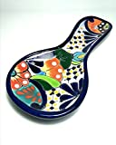 """10"""" Durable Mexican Talavera Pottery Spoon Rest for Daily Use and Home Decor"""