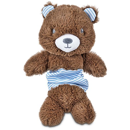 Leaps & Bounds Little Loves Bungee Bear Plush Puppy Toy, Medium