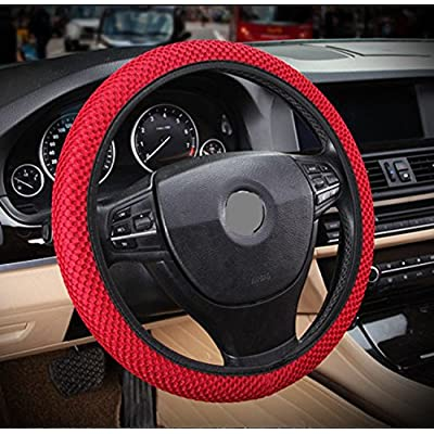 "ZaCoo Breathable Mesh Anti-Slip Car Steering Wheel Cover (No Fixed Inner) fits for Truck,SUV,Cars 14""-15"": Automotive"